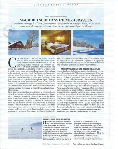 Le Tillau highlited in Le Figaro Magazine